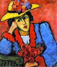 Alexej georgewitsch von jawlensky lady in a yellow straw hat