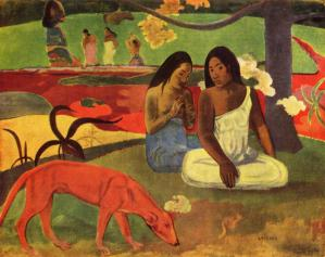 Arearea by paul gauguin joyfulness 1892