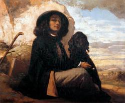 Autoportrait au chien noir 1