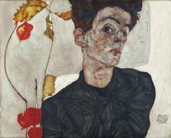 Autoportrait aux alke kenges 1912