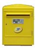 Boite lettres jaune