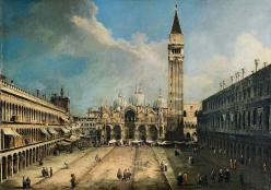 Canaletto the piazza san marco in venice google art project