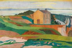 Charles filiger la maison du pen du paysage parabolique 1890