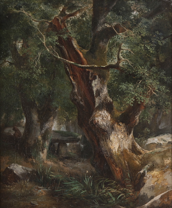 Le chêne au dolmen dans la forêt de Broceliande