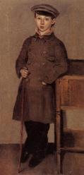 Corot young boy of the corot family circa 1850