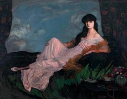 Countess mathieu de noailles by ignacio zuloaga