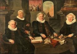 Drie regentessen en de binnenmoeder van het leprozenhuis te amsterdam rijksmuseum sk c 419 1