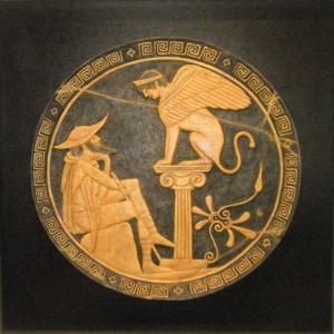 Edipo y la esfinge 56 x 56 cm