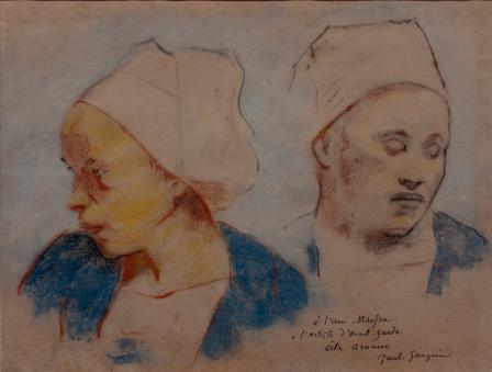 Gauguin deux te tes bretonnes 1