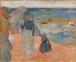 Gauguin sur la plage en bretagne