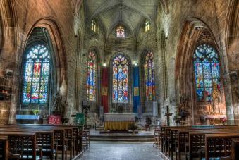 Hennebont vitraux basilique notre dame du paradis jpeg