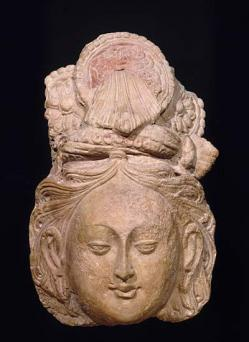 Images musee guimet collections asie centrale tete bodhisattva