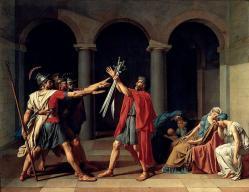 Jacques louis david le serment des horaces 1