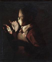 Le souffleur a la lampe georges de la tour