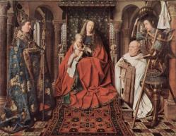 Madonna and child with canon joris van der paele 1436 jpg large