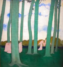 Maurice denis les arbres verts ou les he tres de kerduel 1893