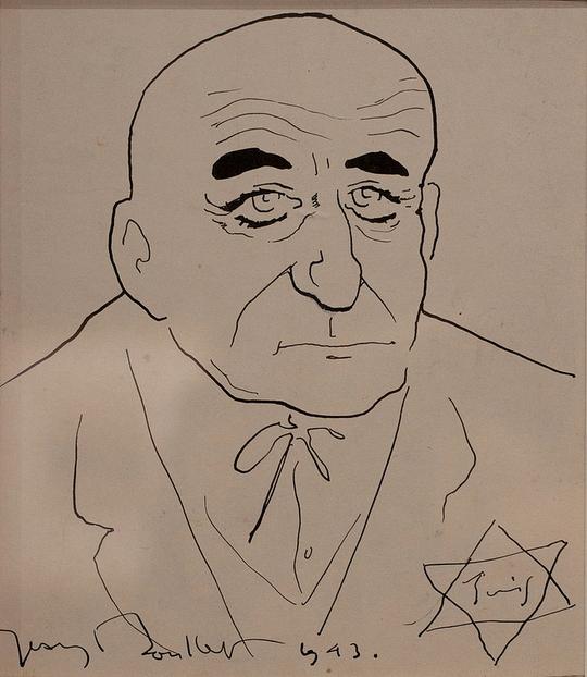 Portrait de Max JACOB à l'étoile jaune