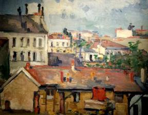 Paul ce zanne les toits de paris 1876