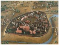 Maquette de la Gniezno médiévale