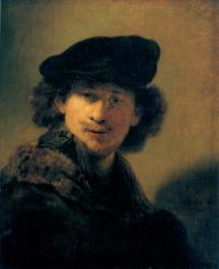 Self portrait with beret 1634
