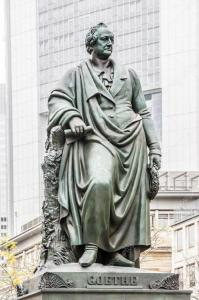 Statue of goethe in frankfurt