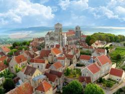 Vezelay vue de montgolfiere
